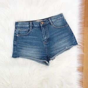 Zara | Trafaluc High Rise Denim Cut Off Shorts.